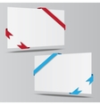 empty isometric paper sheet whith ribbons vector image vector image