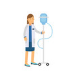 flat cartoon character of woman doctor or nurse vector image vector image