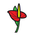 flat color flower icon vector image vector image