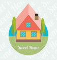 flat house icon vector image vector image