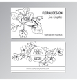 Floral templates for business or visiting cards vector image