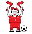 football man cheerleader vector image