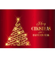 gold christmas tree background vector image vector image