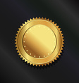 Gold seal logo vector image vector image