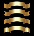 golden 3d ribbons decorative shapes for elegant vector image vector image