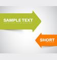 green and orange arrow bookmark vector image vector image