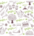 hand sketch Garden pattern with seed vector image