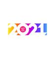 happy new year 2021 logo on rainbow gradient vector image vector image