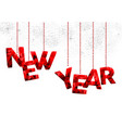 happy new year red quote ornament vector image
