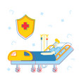 healthcare concept sick injured patient lying in vector image