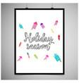 hioliday season frame vector image