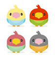 kawaii birds vector image vector image