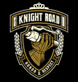 knight road vector image vector image