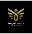 logo angel luxury gradient colorful style vector image