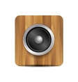 loudspeaker on wood vector image vector image