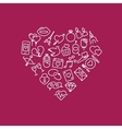 love line icons in heart vector image vector image