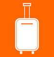 luggage bag white icon vector image vector image
