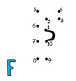 numbers game letter f vector image vector image