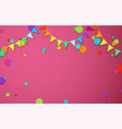 pink festive background with colour flags and vector image