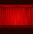 red velvet curtain in theater or cinema vector image vector image