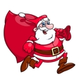 Santa Claus is running 2 vector image