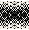 Seamless BW Grid Chevron Halftone Pattern vector image vector image