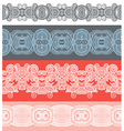 seamless ornamental floral stripes vector image vector image