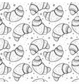 seamless pattern with croissants vector image vector image