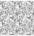 Seamless pattern with handwritten cars