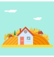 Seasons Change Autumn Village Hills Field vector image