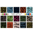 spring seamless pattern set in trend colors vector image vector image