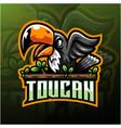 taucan esport mascot logo design vector image