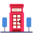 telephone booth flat vector image vector image