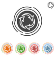 Three arrows in a circle process icon vector image vector image
