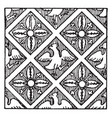tile is a french tile pattern vintage engraving vector image vector image