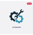 two color automation icon from smart house vector image vector image
