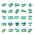 uzbekistan flag vector image