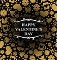 valentine day gold vector image vector image