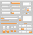 web interface buttons slider and icons with vector image vector image