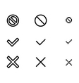 web validation icons vector image vector image
