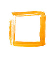 yellow painted square frame vector image vector image