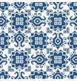 zmijanje retro embroidery seamless pattern vector image