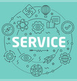 green line flat circle service vector image