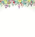 Abstract music notes background vector image