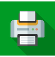 Colorful printer icon in modern flat style with vector image