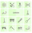 14 garden icons vector image vector image