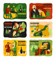 alcohol addiction cards set vector image vector image