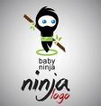 baby ninja vector image
