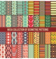 Big collection of seamless colorful retro patterns vector image