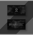 black business card design with abstract shapes vector image vector image